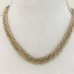 Vintage 1990's silver/gold twisted chain necklace